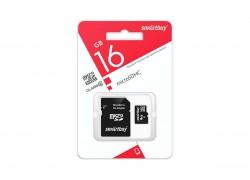 Карта памяти microSDHC Smartbuy 16 GB UHS-I (class 10) с адаптером