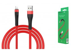 Кабель для iPhone BOROFONE BU4 small maistline lightning cable 1м красный