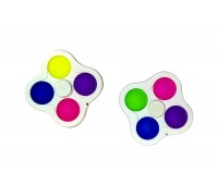 Simple Dimple пупырка 4в1 брелок спинер (цвета в ассортименте)