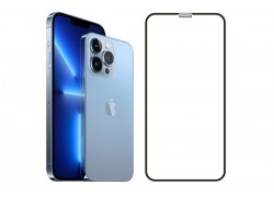 Защитное стекло дисплея iPhone 13 Mini (5.4) 5D черное