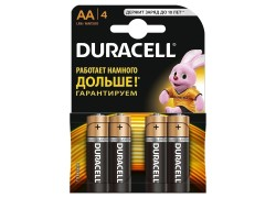 Батарея щелочная Duracell LR06 BL4 / АА упаковка картон цена за 4 шт