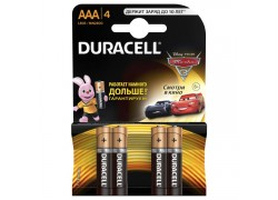 Батарея щелочная Duracell LR03 4BL/ААА упаковка картон цена за 4 шт