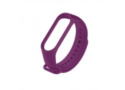 Ремешок силиконовый для XIAOMI MI Band 3/MI Band 4 цвет пурпурно-фиолетовый
