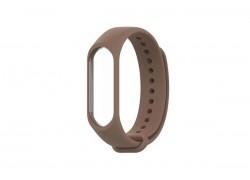 Ремешок силиконовый для XIAOMI MI Band 3/MI Band 4 цвет темнокоричневый