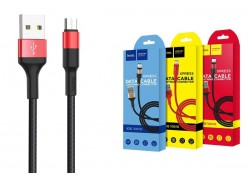 Кабель USB micro USB HOCO X26 Xpress charging data cable (черно-красный) 1 метр