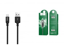 Кабель USB micro USB HOCO X14 Times speed charging cable (черный) 2 метра