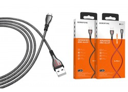Кабель USB micro USB BOROFONE BU23 Highway charging data cable (серый) 1 метр