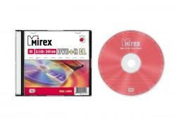 DVD+R Dual Layer двухслойный Mirex 8,5 Гб 8x Slim case (цена за 1 штуку)