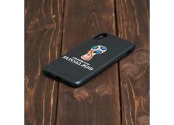 Чехол-накладка iPhone Х черная матовая с рисунком, вариант 1