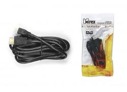 Кабель соединительный Mirex HDMI(M)- miсro-HDMI(M)  2 метра (версия 1.4)