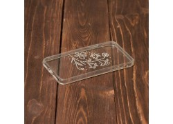 Пластиковая накладка iPhone X c силиконовым бампером и стразами