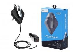 FM-Модулятор + гарнитура Bluetooth Орбита V12