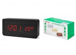 Часы настольные VST 862-1 (Красные цифры, черный корпус) (без блока)