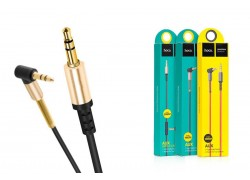 Кабель удлинитель HOCO UPA02 AUX Spring Audio cable 3.5 2 метра черный витой с микрофоном
