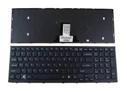 Клавиатура для ноутбука 004A-3013-A черная с рамкой
