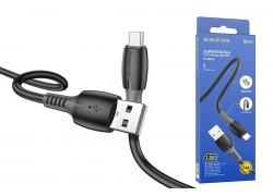 Кабель USB - MicroUSB BOROFONE BX62 2,4A черный 1м