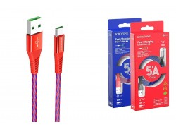 Кабель USB BOROFONE BU13 Craft Type-C 5A fast charging data cable (красный) 1 метр