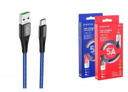 Кабель USB BOROFONE BU13 Craft Type-C 5A fast charging data cable (черный) 1 метр