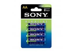 Батарея щелочная SONY LR06 BL4/АА упаковка блистер цена за 4 шт