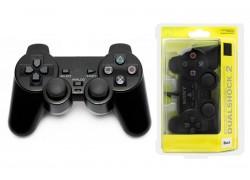 Геймпад проводной для Sony PlayStation 2 (упаковка блистер) черный