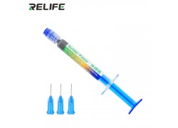 Паста паяльная RELIFE RL-405 в шприце, с набором игл (3 мл)