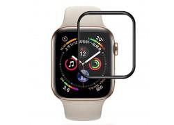 Защитное стекло дисплея Apple Watch 44 mm с черной рамкой (бампером)