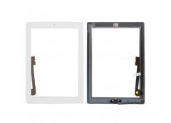 iPad 3 - тачскрин, сенсорное стекло + кнопка Home + скотч (белый)