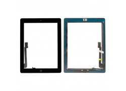 Тачскрин для iPad 4 с кнопкой Home + скотч (черный)