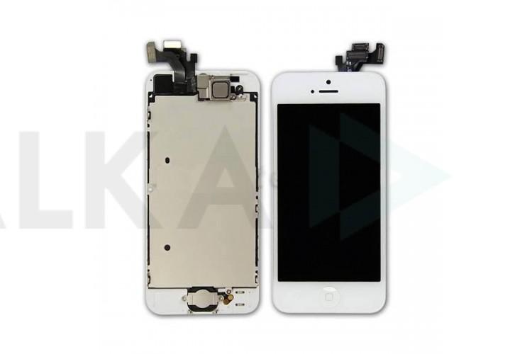 Дисплей для iPhone 5 в сборе с тачскрином и рамкой (белый)