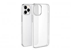 Силиконовый чехол iPhone 12 (5,4) тонкая (0.3 mm) прозрачная с заглушкой