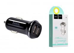 Автомобильное зарядное устройство 2USB HOCO Z1 two-port car charger 2400 mAh черный