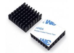 Аллюминиевый радиатор 28х28х8 мм с термоскотчем