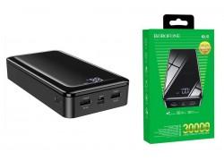 Универсальный дополнительный аккумулятор BOROFONE BJ8 power bank (30000 mAh) черный