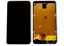 Дисплей для Nokia X (RM-980) в сборе с тачскрином + рамка