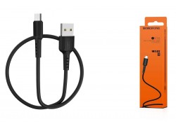 Кабель USB micro USB BOROFONE BX16 Easy charging cable (черный) 1 метр