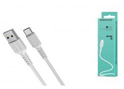 Кабель USB BOROFONE BX16 Easy charging cable for Type-C (белый) 1 метр