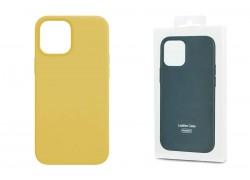 Чехол для iPhone 12 Pro Max (6,7) Leather Case золотистый
