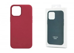 Чехол для iPhone 12 Pro Max (6,7) Leather Case красная роза