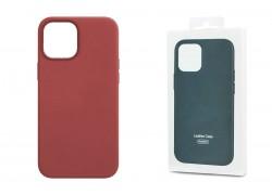 Чехол для iPhone 12 Pro Max (6,7) Leather Case розовый пион