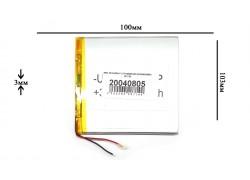 Аккумулятор универсальный 103x100x3 3.7V 6000mAh (03100100P)