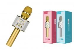 Караоке микрофон HOCO BK3 Cool sound KTV microphone цвет золотистый