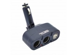TDS TS-CAU18 разветвитель авто в прикуриватель (2+2*USB)