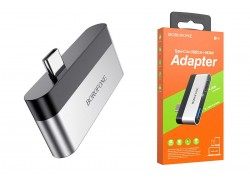 Разветвитель USB HUB Type-C (M) --> HDMI + USB3.0 BOROFONE DH2 (7/51-2)