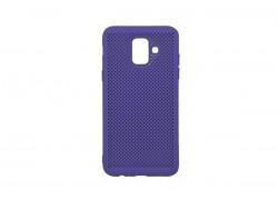 Силиконовая накладка Samsung J6 (2018) фиолетовый с перфорацией
