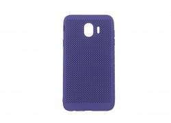 Силиконовая накладка Samsung J4 (2018) фиолетовый с перфорацией