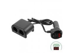 OLESSON 1641 Разветвитель авто (2 гнезда+USB)