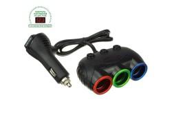 OLESSON 1633 Разветвитель авто (3 гнезда+USB)