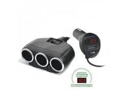 OLESSON 1634 Разветвитель авто (3 гнезда+USB)
