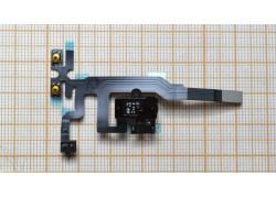 Шлейф для iPhone 4s с разъемом гарнитуры, кнопки громкости, переключатель, микрофон (на черный)