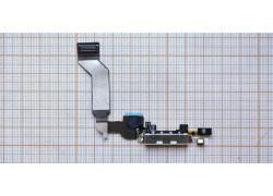 Шлейф для iPhone 4s с разъемом зарядки, микрофон (на белый) HQ